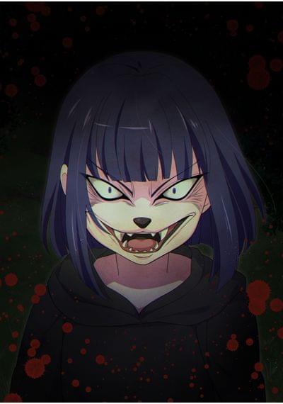 悪魔のアリス_no.1   少女の獰猛な狼の顔があらわになる